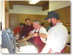 Folks at Work--Sausage Supper. Join Us for our next special event!